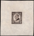 Stamps, 2¢ Harding, Large Die Proof on India (610P1),...