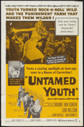 """Movie Posters:Exploitation, Untamed Youth (Warner Brothers, 1957). One Sheet (27"""" X 41"""").Exploitation.. ..."""