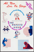 """Movie Posters:Animated, Popeye Stage Show (Various, 1970s). Poster (25"""" X 38""""). Animated.. ..."""