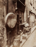 Photographs:20th Century, EUGÈNE ATGET (French, 1857-1927). Rue de la Reynie, circa1910. Gold toned printing-out paper. 9-7/8 x 6-3/4 inches (25....
