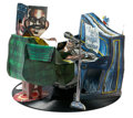 Fine Art - Sculpture, American:Contemporary (1950 to present), RED GROOMS (American, b. 1937). Fats Domino, 1987. Mixedmedia with rotating stand. 13 x 16 inches (33.0 x 40.6 cm). Sig...