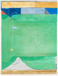 Post-War & Contemporary:Contemporary, RICHARD DIEBENKORN (American, 1922-1993). Green, 1986.Etching with aquatint and drypoint printed in colors. 44 x 35.5i...