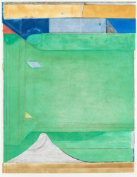 RICHARD DIEBENKORN (American, 1922-1993) Green, 1986 Etching with aquatint and drypoint printed in c