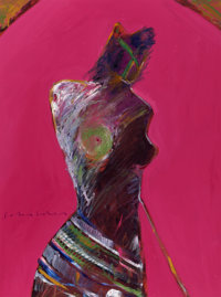 FRITZ SCHOLDER (American, 1937-2005) American Portrait #21, 1981 Oil on canvas 40 x 30 inches (10