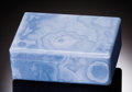 Lapidary Art:Boxes, TRANSLUCENT BLUE CHALCEDONY BOX. ...