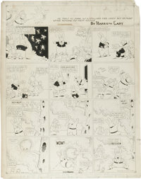 Harrison Cady - Peter Rabbit Sunday Comic Strip Original Art, dated 4-3-21 (NY Tribune Inc., 1921)