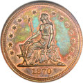 Patterns, 1870 25C Quarter Dollar, Judd-884, Pollock-982, R.7, PR66 Red andBrown NGC....