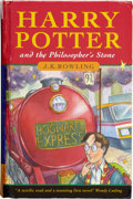 Books:First Editions, J. K. Rowling. Harry Potter and the Philosopher's Stone.[London]: Bloomsbury, [1997].. One of the 500 first e...