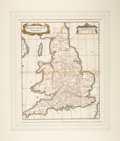 Miscellaneous:Maps, [Map]. Robert Morden. Britannia Saxonica. [London]: 1722. Aninteresting double-page engraved map of England and...