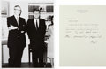 """Autographs:U.S. Presidents, John F. Kennedy Typed Memo Signed as President with HolographNotation. One page, 6.75"""" x 9"""", on White House letterhead, Was...(Total: 2 Items)"""