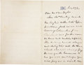 "Autographs:U.S. Presidents, William McKinley Autograph Letter Signed as Governor of Ohio. Twopages, penned on recto and verso on ""RH"" embossed lett..."