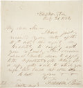 """Autographs:U.S. Presidents, Franklin Pierce Autograph Letter Signed as President. One page,penned on recto only, 7.5"""" x 8"""", Washington, D.C., October 3..."""