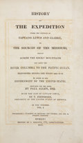 Books:Non-fiction, [Meriwether Lewis and William Clark]. History of the Expedition Under the Command of Captains Lewis and Clarke [sic], to... (Total: 2 Items)