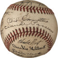 Baseball Collectibles:Balls, 1940 Chicago Cubs Team Signed Baseball....