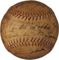 Baseball Collectibles:Balls, 1945 Chicago Cubs Team Signed Baseball....