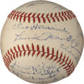 Baseball Collectibles:Balls, 1942 Chicago Cubs Team Signed Baseball - With Jimmie Foxx....