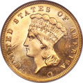 Three Dollar Gold Pieces, 1885 $3 MS65 ★ Prooflike NGC....