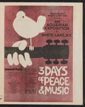"Movie Posters:Rock and Roll, Woodstock (Warner Brothers, 1970). Herald (Multiple Pages, 12"" X15""). Rock and Roll.. ..."