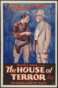 "Movie Posters:Serial, The House of Terror (William Pizor, 1928). One Sheet (27"" X 41"") Episode 6 -- ""The Secret Passage."" Serial.. ..."