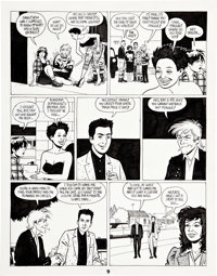 Jaime Hernandez Love and Rockets #20 page 9 Original Art (Fantagraphics, 1987)