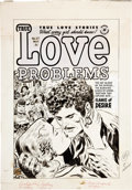Original Comic Art:Covers, Lee Elias True Love Problems and Advice Illustrated #27Cover Original Art (Harvey, 1954)....