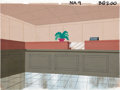 Animation Art:Production Drawing, Bank Interior Animation Production Background Original Art(undated)....