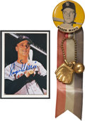 Autographs:Sports Cards, 1979 TCMA Roger Maris Signed Card and Pin....