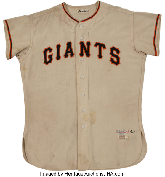 timeless design f2d25 a6fb3 1954 Dusty Rhodes Game Worn New York Giants Jersey with 1955 ...