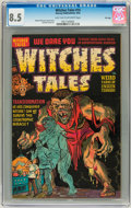 Golden Age (1938-1955):Horror, Witches Tales #14 File Copy (Harvey, 1952) CGC VF+ 8.5 Light tan tooff-white pages....