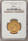 Liberty Eagles, 1851-O $10 AU53 NGC....