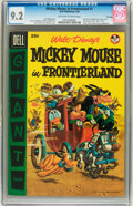 Golden Age (1938-1955):Funny Animal, Dell Giant Comics: Mickey Mouse in Frontierland #1 File Copy (Dell,1956) CGC NM- 9.2 Off-white to white pages....