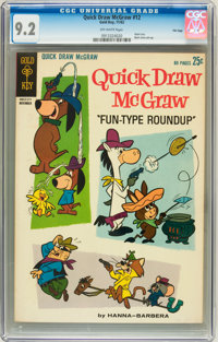 Quick Draw McGraw #12 File Copy (Dell/Gold Key, 1962) CGC NM- 9.2 Off-white pages