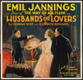 "Movie Posters:Comedy, Husbands and Lovers (Film Arts Guild, 1924). Six Sheet (81"" X 81""). Comedy.. ..."