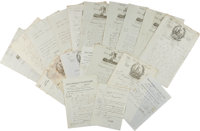 """Napoleon Bonaparte Collection of Nineteen Letters Signed """"Bonaparte"""". All are dated between October 1796 a"""