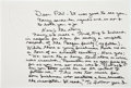 Autographs:U.S. Presidents, Ronald Reagan Autograph Letter Signed. One page, penned on rectoand verso of a blind-stamped crested notecard, approximatel...