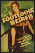 "Movie Posters:Comedy, The Footloose Heiress (Warner Brothers, 1937). Midget Window Card(7"" X 11""). Comedy.. ..."