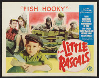 "The Little Rascals (Monogram, R-1952). Stock Title Lobby Card (11"" X 14""). ""Fish Hooky."" Comedy"