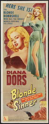 "Blonde Sinner (Allied Artists, 1956). Insert (14"" X 36""). Bad Girl"