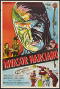"Movie Posters:Serial, Flying Disc Man from Mars (Republic, 1950). Argentinean Poster (29""X 43""). Serial.. ..."