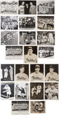Baseball Collectibles:Photos, Circa 1950's Philadelphia Phillies Original Service Lot of 100+....