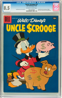 Uncle Scrooge #21 (Dell, 1958) CGC VF+ 8.5 Off-white to white pages