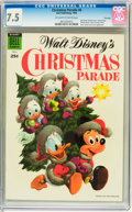 Golden Age (1938-1955):Cartoon Character, Dell Giant Comics: Christmas Parade #6 File Copy (Dell, 1954) CGCVF- 7.5 Off-white to white pages....