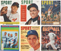 Baseball Collectibles:Publications, Vintage Baseball Publications Lot Of 13....