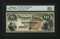 Large Size:Legal Tender Notes, Fr. 101 $10 1880 Legal Tender PMG Gem Uncirculated 65 EPQ....