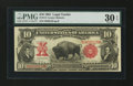 Large Size:Legal Tender Notes, Fr. 114 $10 1901 Legal Tender PMG Very Fine 30 EPQ....
