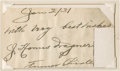 Baseball Collectibles:Others, 1931 Honus Wagner Signed Cut Signature....