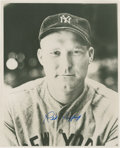 Baseball Collectibles:Photos, Red Ruffing Signed Photograph....