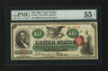Large Size:Legal Tender Notes, Fr. 95b $10 1863 Legal Tender PMG About Uncirculated 55 EPQ....