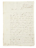 "Autographs:Non-American, [Napoleon] Nicholas Trant Autograph Letter Signed ""N.Trant"". Eight pages, 8.25"" x 12"", Coimbra [Portugal], March 30,18..."