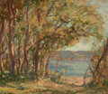 Impressionism & Modernism:post-Impressionism, JAMES HENDERSON (Canadian, 1871-1951). Untitled (Landscapes)(4). Oil on board. 10-1/4 x 11-3/4 inches (26.0 x 29.8 cm) ...(Total: 4 Items)
